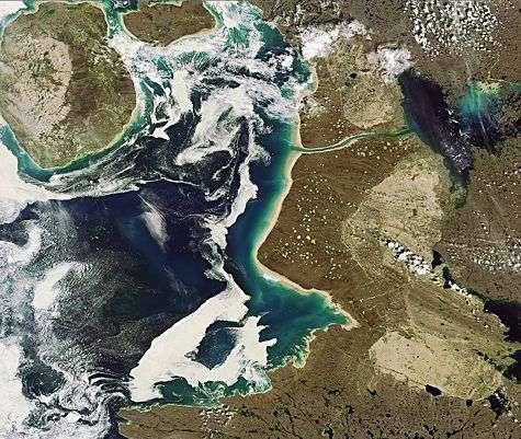 Le Bassin de Foxe. Crédit ESA.