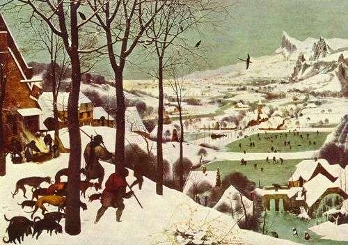 Réalisée en 1565, Le Cycle des mois, de Pieter Bruegel l'Ancien, illustre ce que fut le petit âge glaciaire.