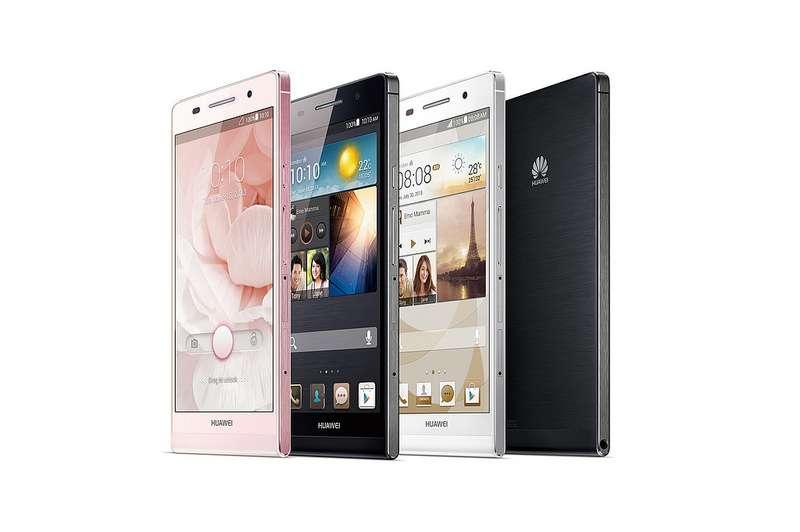 L'Ascend P6 sera disponible en trois couleurs : noir, blanc et rose. © Huawei Device