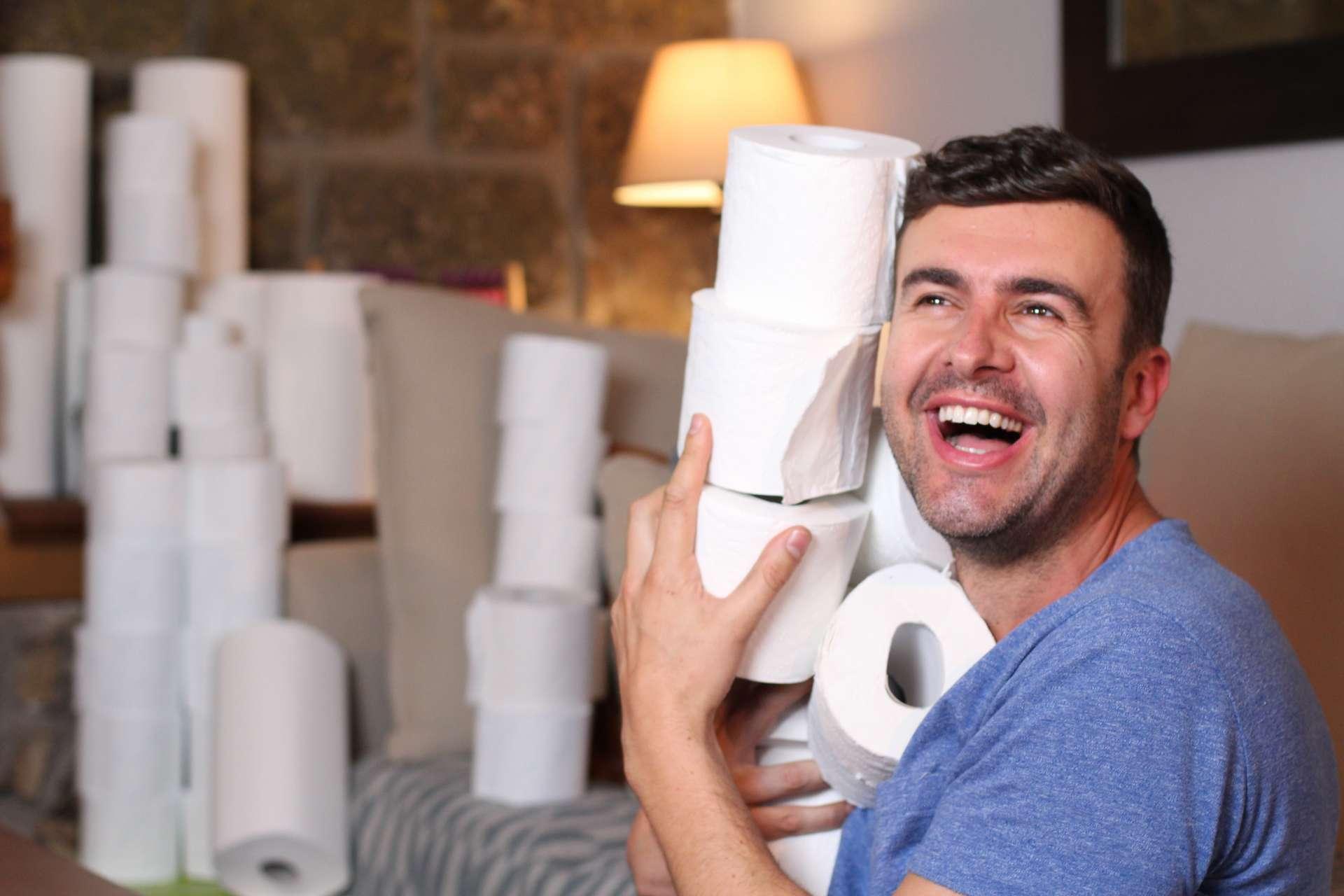 Les mesures de confinement semblent pousser les personnes concernées à l'achat massif de papier toilette. © Ajr_images, Adobe Stock