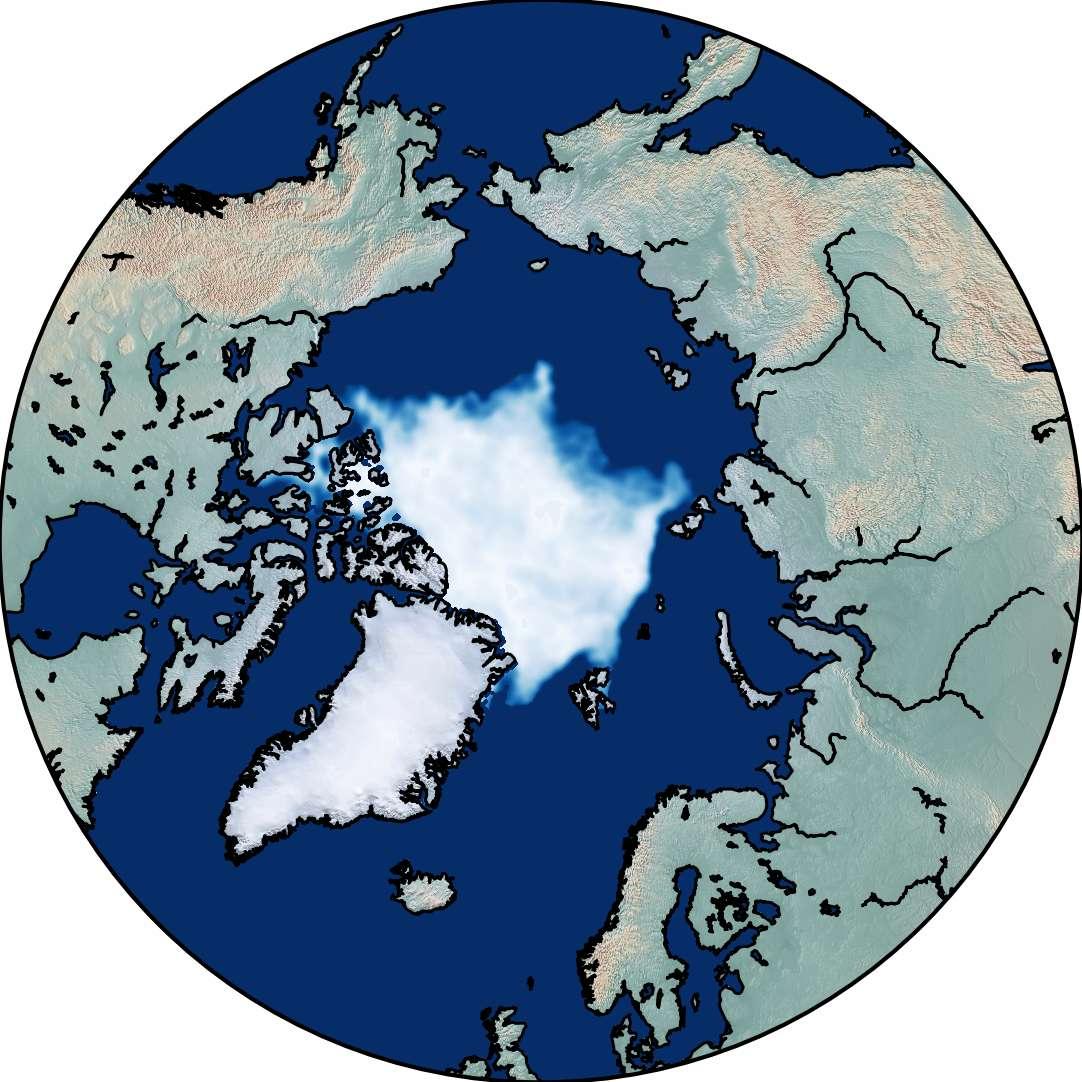 Illustration de la surface glacée à la fin de l'été arctique en septembre 2019, soit 40 ans après. © Dirk Notz