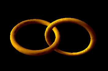 Une paire de cordes cosmiques dans une simulation numérique montrant que ces dernières sont instables et doivent se désintégrer. © University of Cambridge