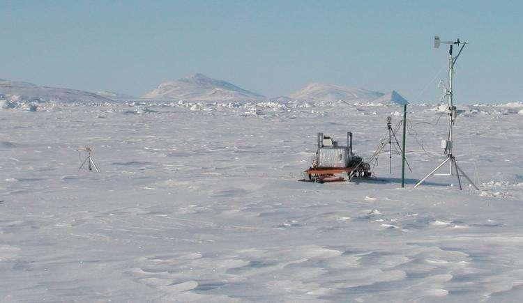 Instruments météorologiques et d'analyse chimique, installés dans la station Alert, sur le territoire Nunavut. © Samuel Morin