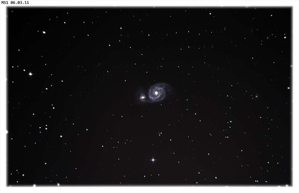 La galaxier spirale Messier 51. © J.-C. Baudevin