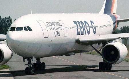 """L'Airbus A300 """"Zéro-G"""" de la société Novespace"""