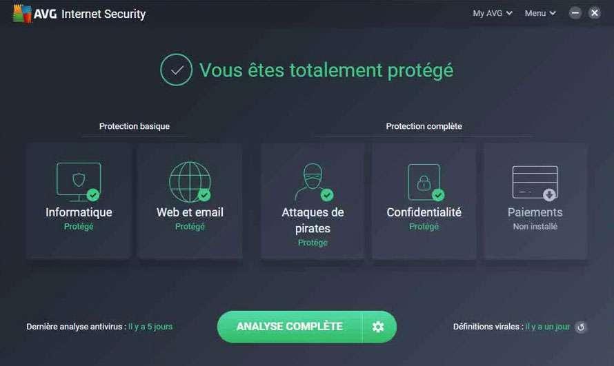 Profitez de 40% de réduction sur la suite de sécurité AVG Internet Security ©AVG
