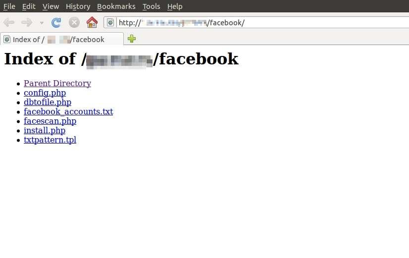 Capture d'écran de la console de gestion de Ramnit avec le fichiers comportant les identifiants de comptes Facebook. © Seculert