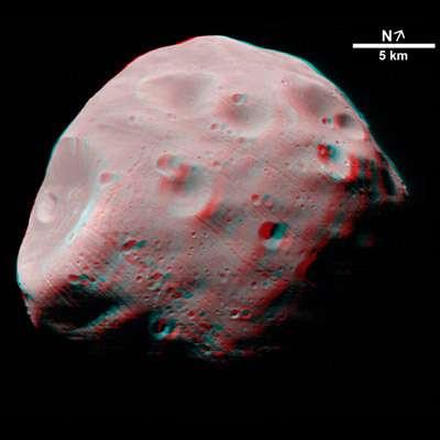 Phobos en 3D (novembre 2004)