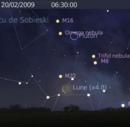 La Lune est en proche de l'amas globulaire M22