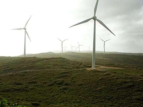 Parc éolien en Australie. Source Commons