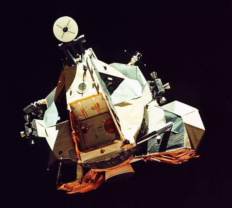 Snoopy, le module de remontée vers l'orbite lunaire de la mission Apollo 10 (ici celui d'Apollo 17) est sur une orbite héliocentrique depuis quarante-deux ans. Pourra-t-on le repérer ? © Nasa