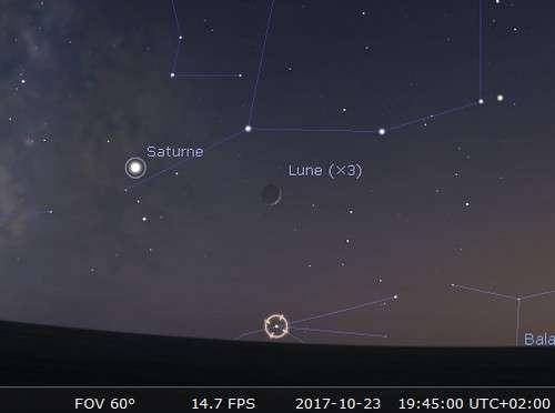 La Lune en rapprochement avec Antares