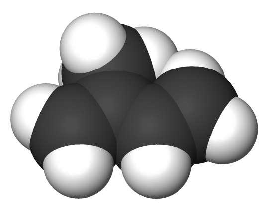 Molécule d'isoprène. © Sbrools CC by-sa