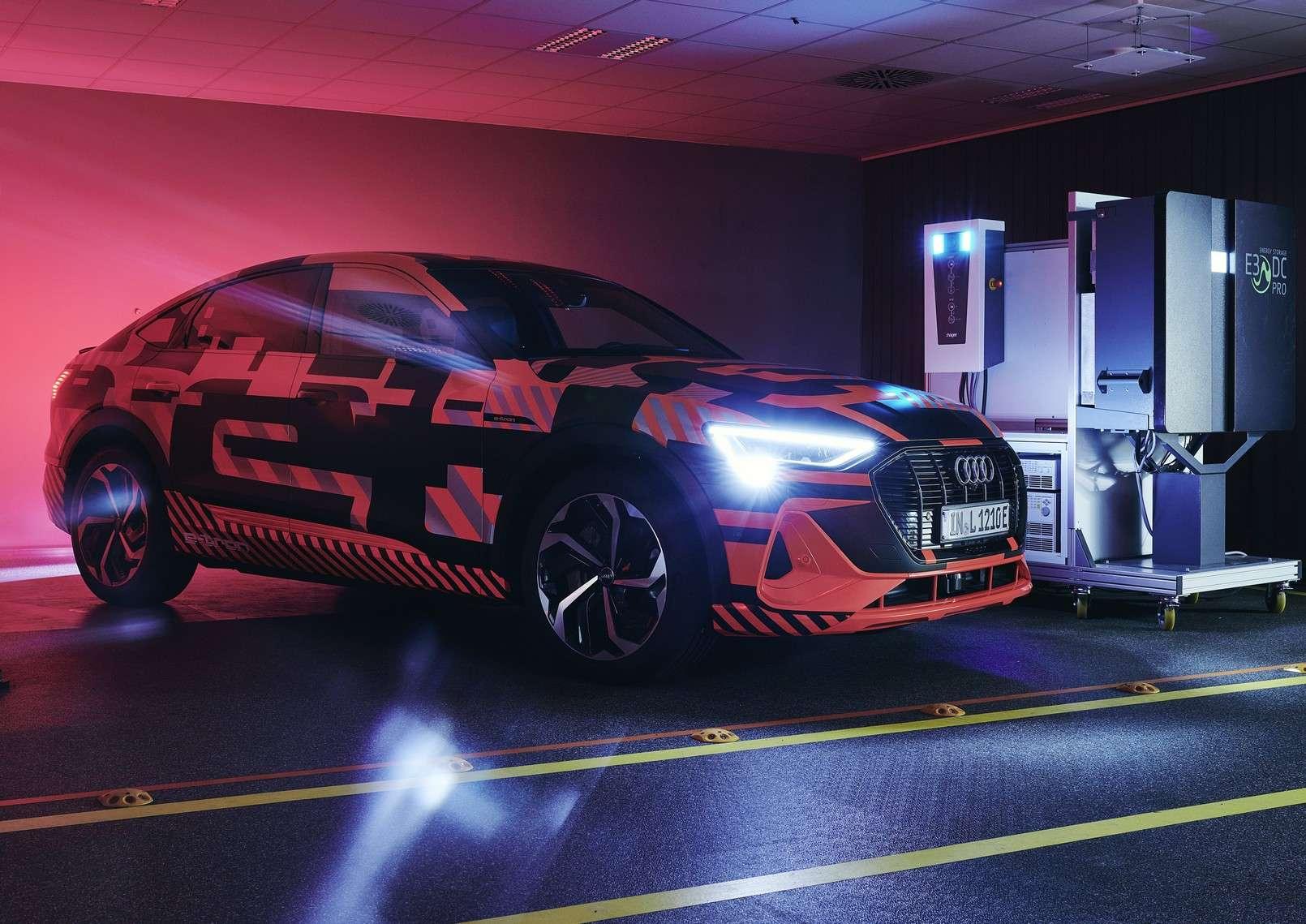Audi teste la charge bidirectionnelle avec son SUV électrique E-tron. © Audi