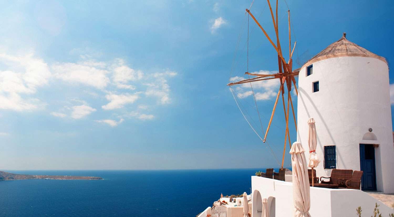 Vue panoramique de Santorin. © Mstyslav Chernov, cc by nc 3.0
