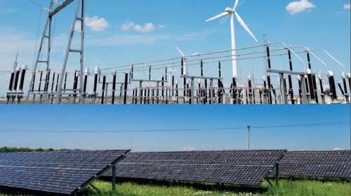 À l'avenir, la production d'électricité pourrait de plus en plus recourir aux énergies renouvelables : éoliennes implantées ici, panneaux photovoltaïques là. Et pour l'essentiel, ces sources d'énergie se raccordent au réseau local de distribution d'électricité. © DR