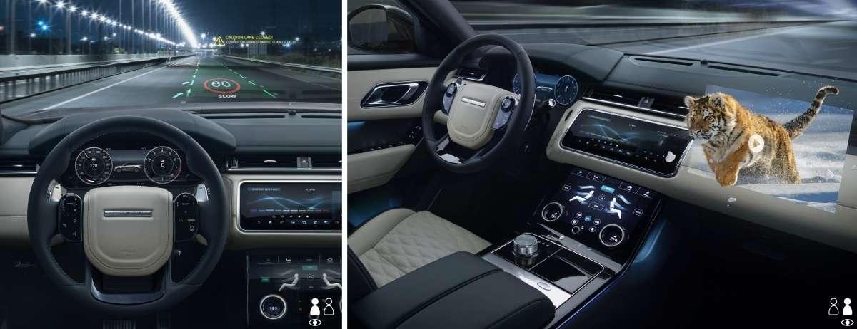 D'abord pensé pour assurer la sécurité des conducteurs, le système d'affichage en 3D sur lequel planche Jaguar Land Rover pourrait à terme servir aux loisirs, pour diffuser des films en relief aux passagers. © Jaguar Land Rover