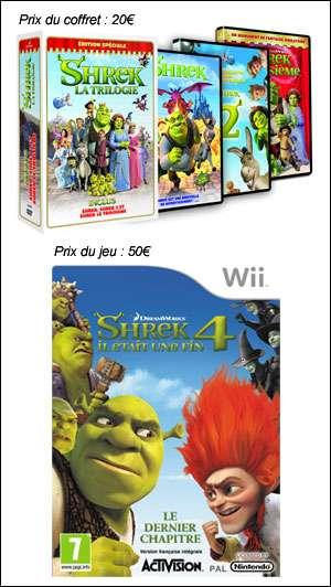 Des coffrets DVD de la trilogie de Shrek et des jeux Wii à gagner. Crédits : Shrek Forever After TM & © 2010 DWA LLC.