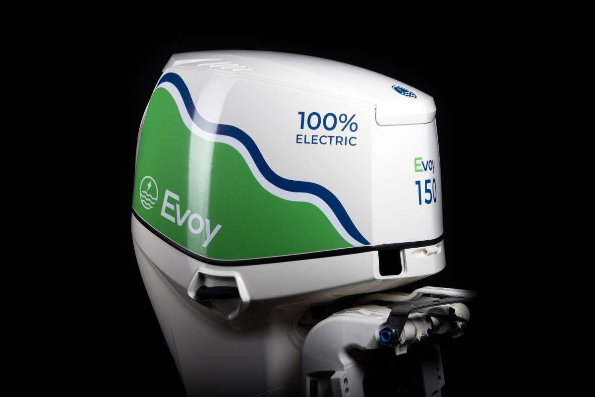 Le moteur électrique hors-bord Evoy Pro. © Evoy