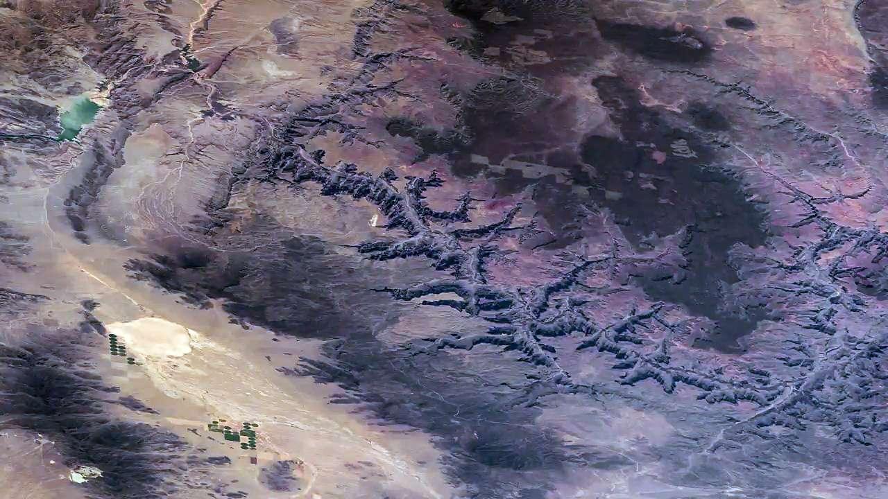 Le Grand Canyon vu de l'espace