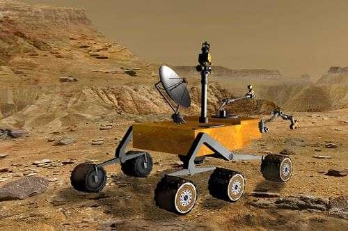 Vue d'artiste de Mars Science Laboratory. © Nasa