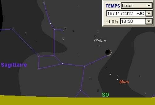 La Lune en rapprochement avec Mars et Pluton