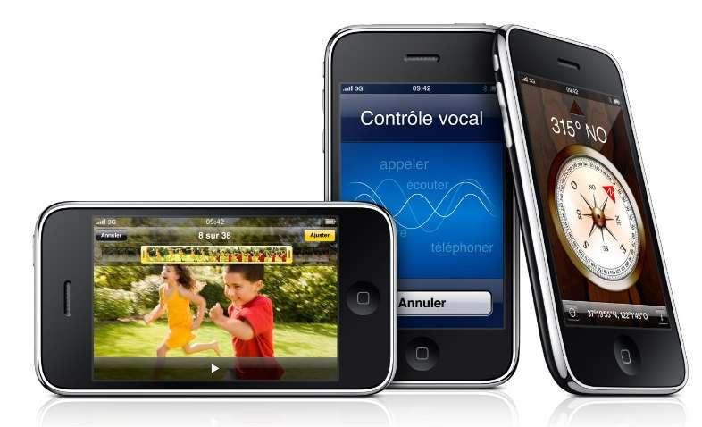 L'iPhone (ici en version 3GS) permettait déjà de s'orienter grâce à sa boussole incorporée. Il servira désormais aussi à voyager... © Apple