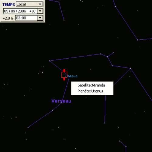 La planète Uranus est à l'opposition