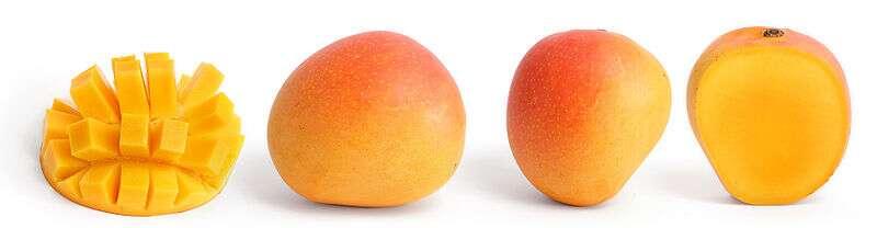 La mangue est un fruit exotique produit en très grandes quantités. © Wikimedia Commons