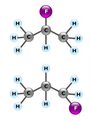 Des isomères sont des molécules possédant une même formule chimique brute, mais dont les groupements ne sont pas arrangés de la même façon. © DR
