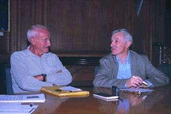 Claude Lorius et Jean Jouzel médaillé d'or du CNRS 2002Crédit : CNRS