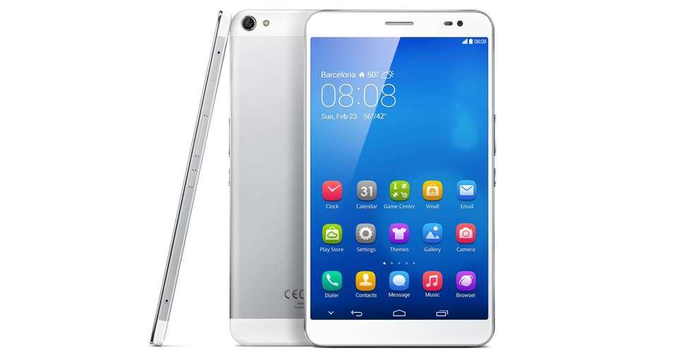 Avec son MediaPad X1 de sept pouces, le fabricant chinois Huawei propose la plus grande phablet de cette édition 2014 du Mobile World Congress. Les poches des pantalons et des vestes devront s'agrandir ! © Huawei