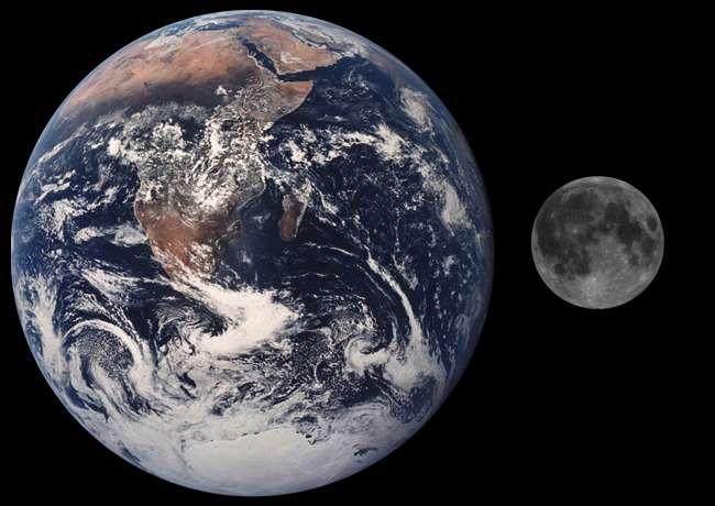 Le mouvement de révolution de la Lune autour de la Terre est un phénomène périodique. © Nasa, DP