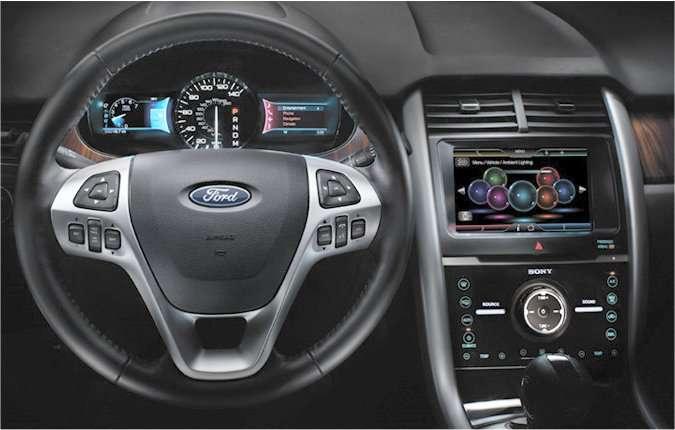 Attention, nous sommes suivis par une voiture... la nôtre ! © Ford