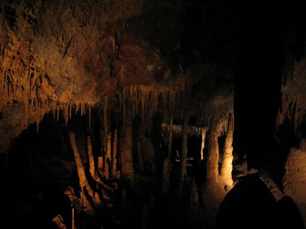 Le site américain des cavernes Kartchner mesure 3,9 km de long, et se compose de roches calcaires qui se sont formées voilà 330 millions d'années. Ce réseau souterrain se caractérise par une forte humidité (99,4 % en moyenne), ainsi que par un taux élevé de CO2 dans l'air ambiant. © MPR529, Flickr, cc by nc nd 2.0