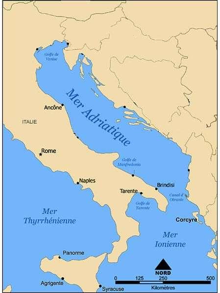 La mer Adriatique, zone la plus touchée par les mucilages marins. © S. Crouzet CC by-sa