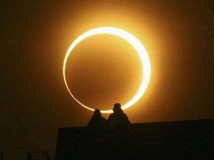 Éclipse annulaire de Soleil visible depuis le centre de l'Afrique, le sud de l'Asie, la Chine, et l'océan Pacifique