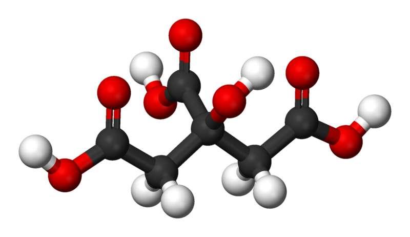 Le citrate est très utilisé dans l'agroalimentaire. © Benjah-bmm27, Wikimedia, domaine public