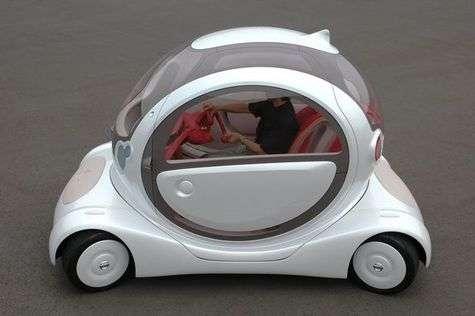 Voiture électrique Pivo, de Nissan, dont l'habitacle pivote de 180°