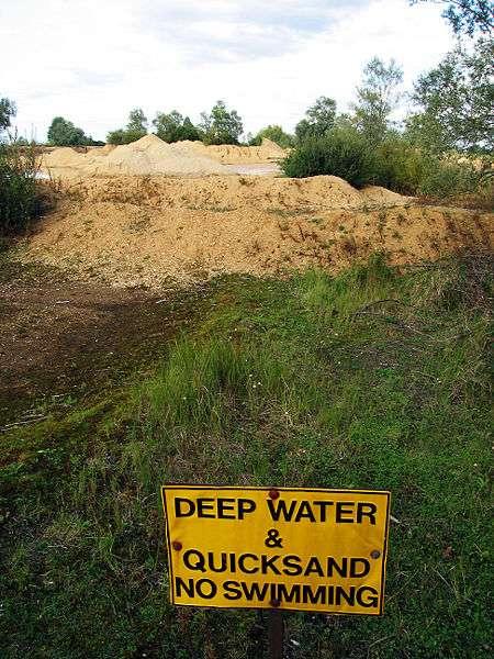 Le sable mouvant est thixotrope. © Andrew Dunn, Wikipédia, cc by sa 2.0