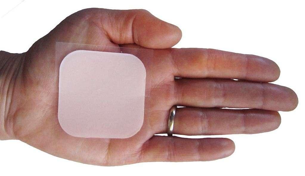 De nombreux moyens de contraception sont à disposition des couples, comme le patch contraceptif qui diffuse des hormones à travers la peau. © James Heilman, Wikipédia, cc by sa 3.0