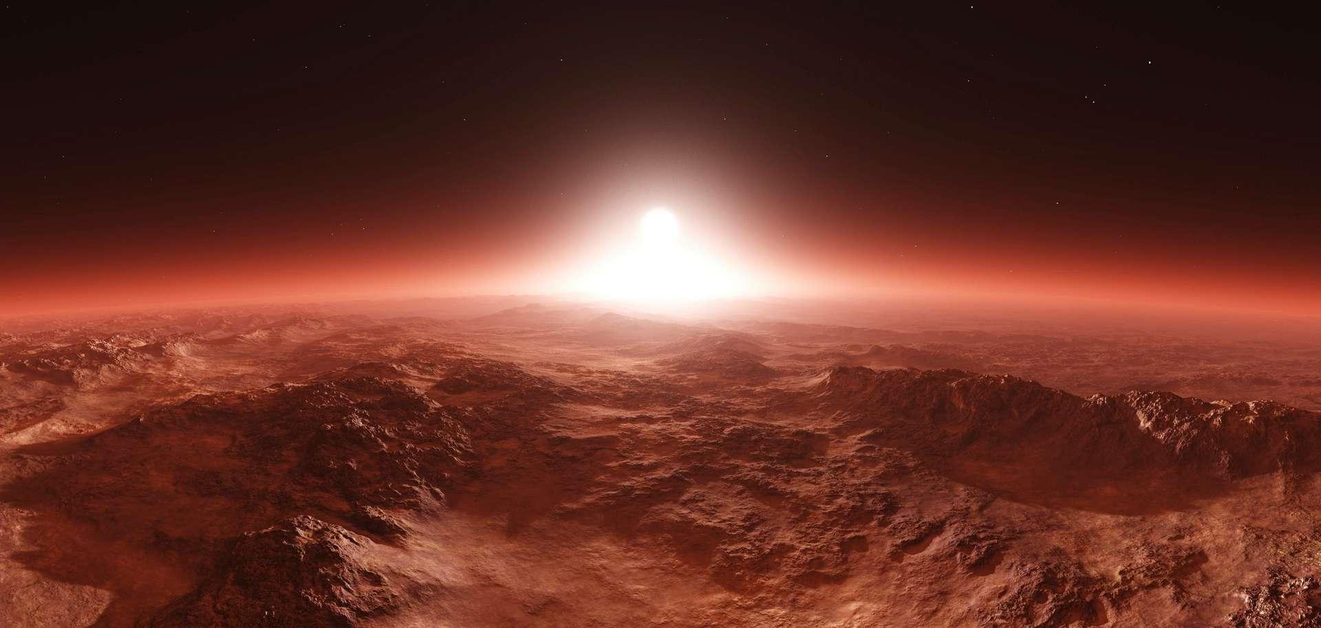 Vue d'artiste de Mars. © ustas, Adobe Stock