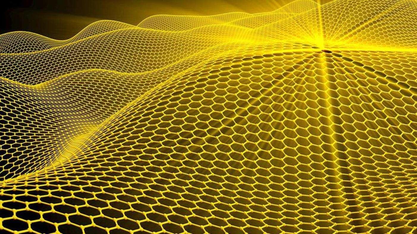 Modélisation numérique d'un feuillet de graphène d'une seule épaisseur d'atomes de carbone organisés en nid d'abeilles. © Pasieka, SPL/Cosmos-Cnrs