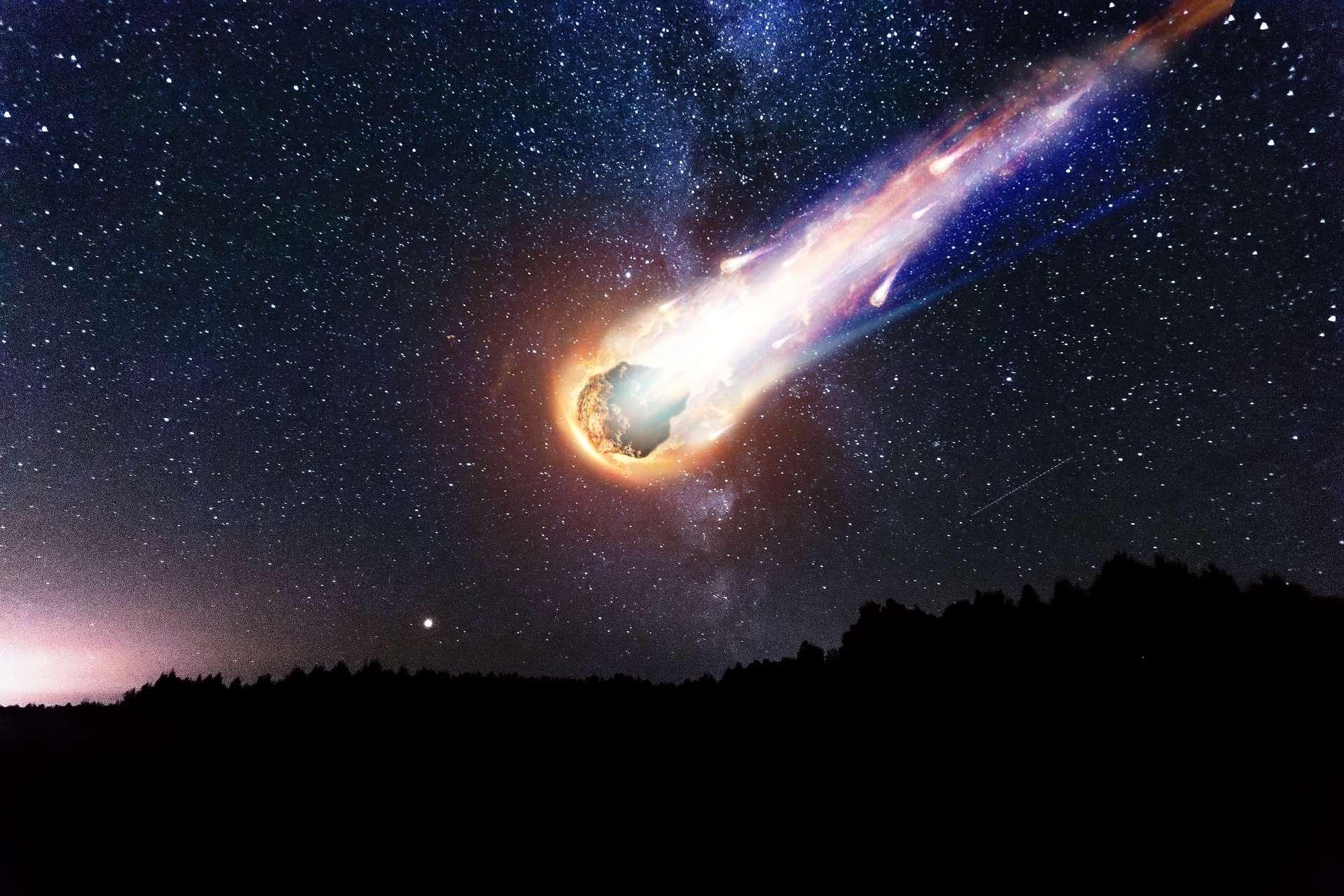 On estime à 10.000 tonnes la masse de micrométéorites et météorites tombant sur Terre par an. © Aliaksandr Marko, Adobe Stock