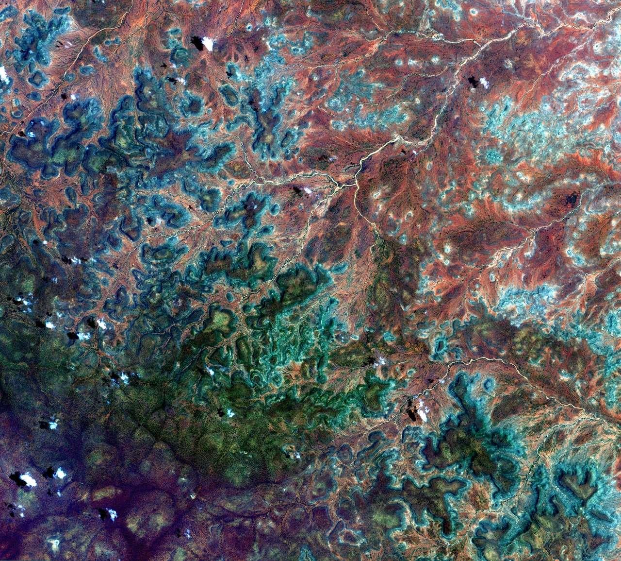 Le satellite japonais Alos a pris cette image de la région de Gedo en Somalie. © Jaxa/Esa
