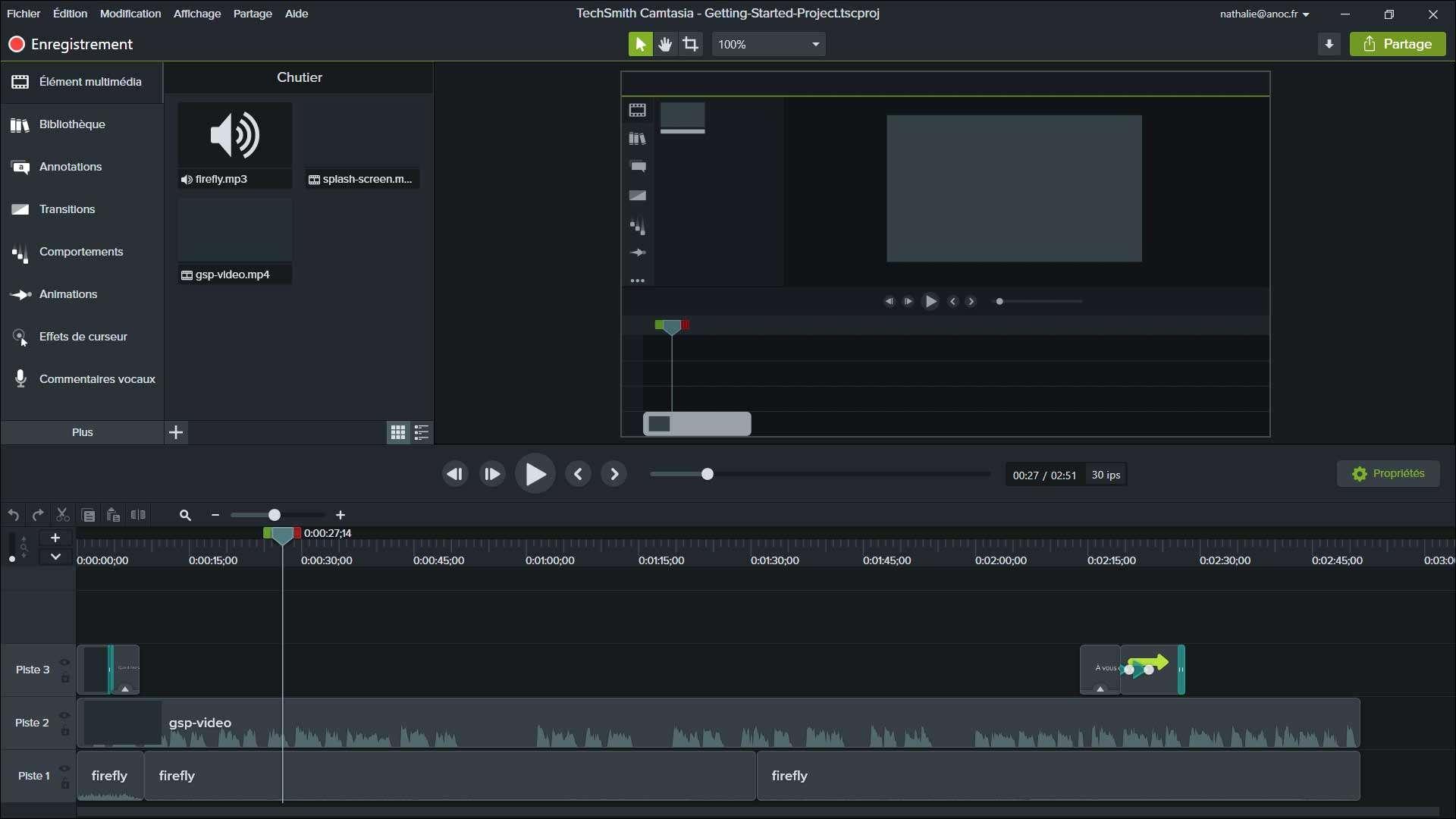 Logiciel de montage vidéo Camtasia Studio à -10 %