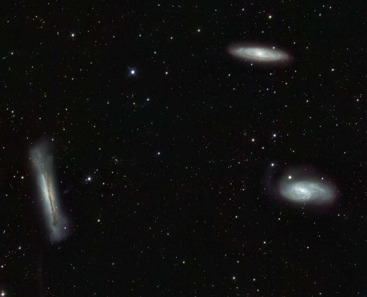 Le triplet de galaxies du Lion photographié par le VST. © Eso/INaf-VST/OmegaCAM