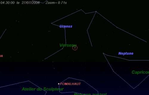 Maximum de l'essaim des météores des delta-Aquarides sud