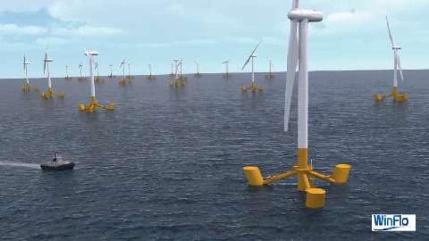 Des éoliennes Winflo montées en série