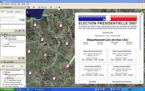 Ecran Google Earth